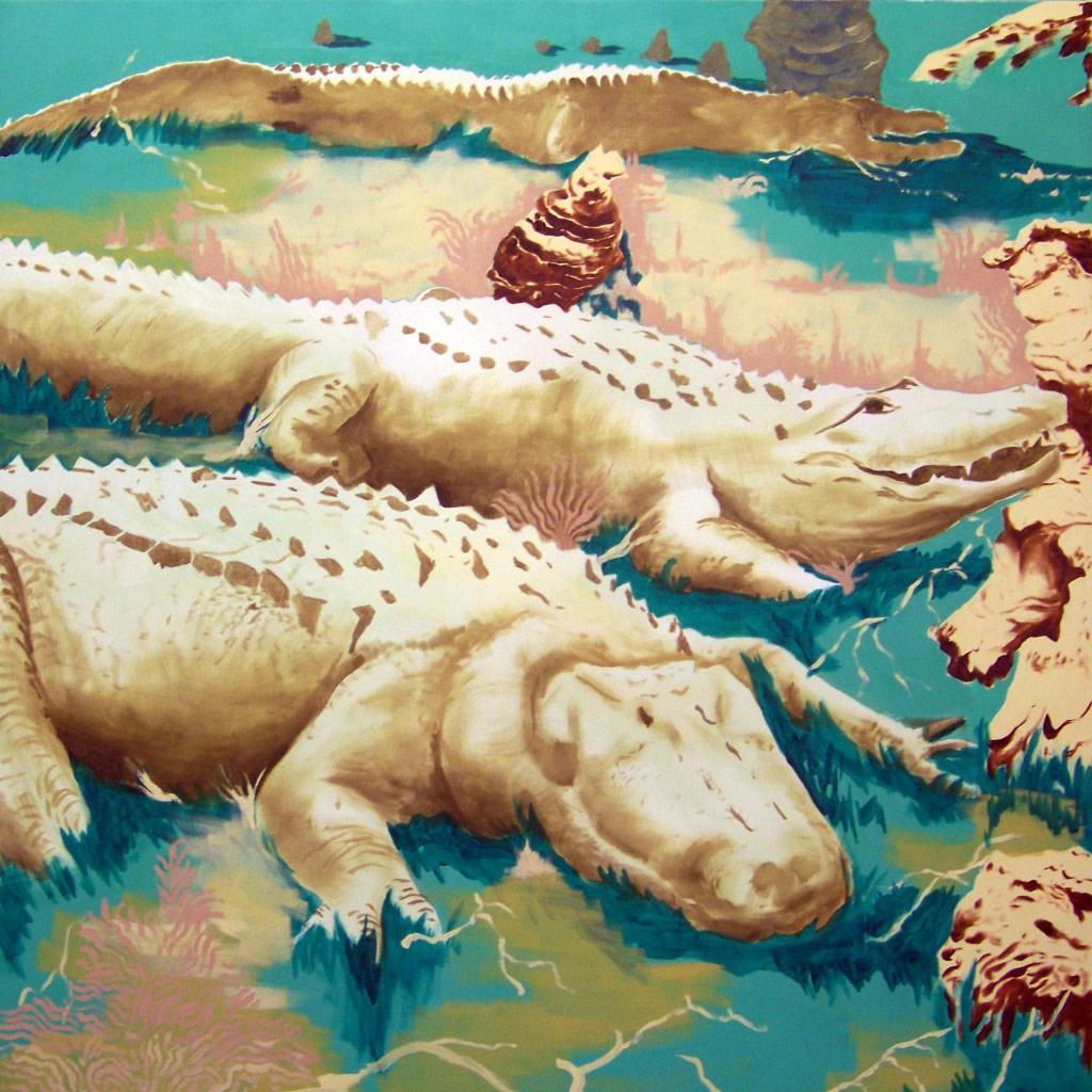 Antoine Carbonne, Crocodile Dundee, 2014, Huile sur toile, 130 x 130 cm