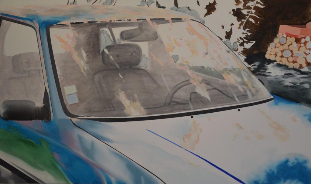 Antoine Carbonne, Sans Titre, 2014, Huile sur toile, 162x97cm