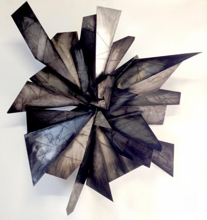 Alan Gouldbourne, Liminal Relief No.1, 2014, Aluminium, 120x120x30cm