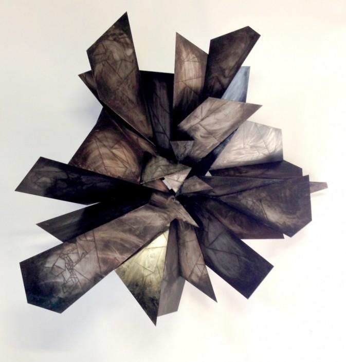 Alan Gouldbourne, Liminal Relief No.2, 2014, Aluminium, 120x120x30cm