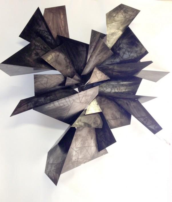 Alan Gouldbourne, Liminal Relief No.3, 2014, Aluminium, 120x120x30cm