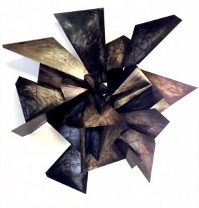Alan Gouldbourne, Liminal Relief No.4, 2014, Aluminium, 120x120x30cm