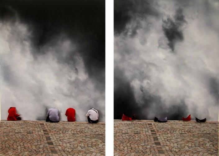 Julia Kater, O Inutil Sonho De Ser, 2011, Découpages et collages de photographies sur papier argentique 120 x 80 cm chaque Ed 3/3