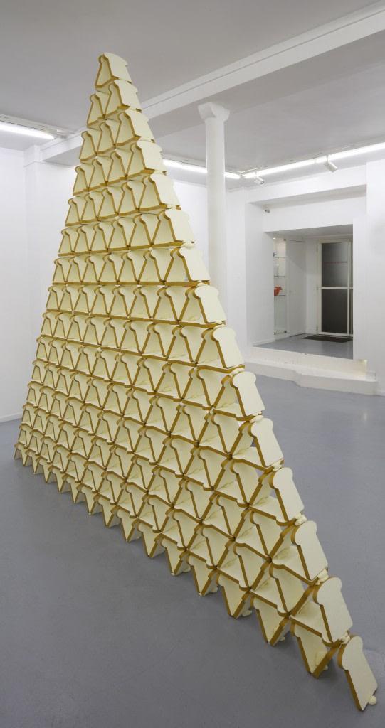 Jessica Lajard, Voilà, 2012, Polyurethane et acrylique, Dimensions variables