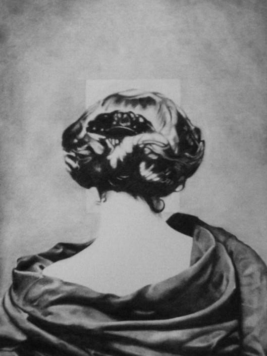 Nicolas Leignel, Lettre à une inconnue, 2014, Fusain sur papier, 50x65cm