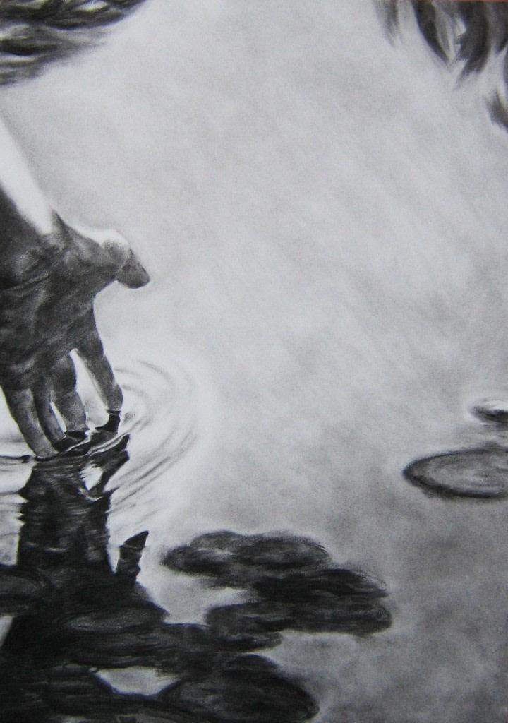 Nicolas Leignel, Hylas, 2014, Fusain sur papier, 50x65cm