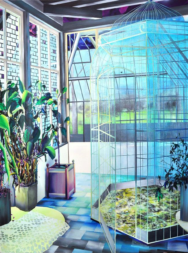 Marion Charlet, Escape, 2014, Acrylique sur toile, 150 x 200 cm