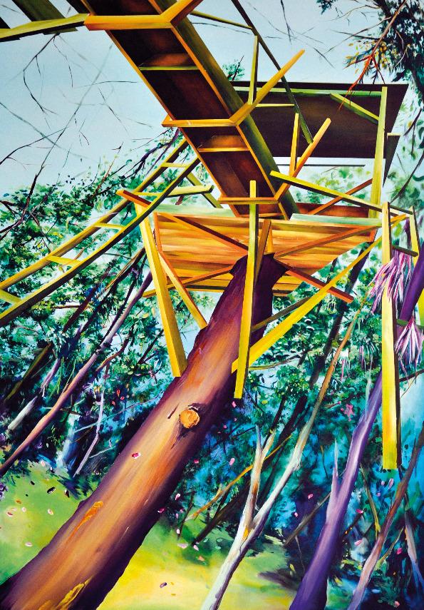 Marion Charlet, Livarot's hut, 2013, acrylique sur toile, 162 x 114 cm