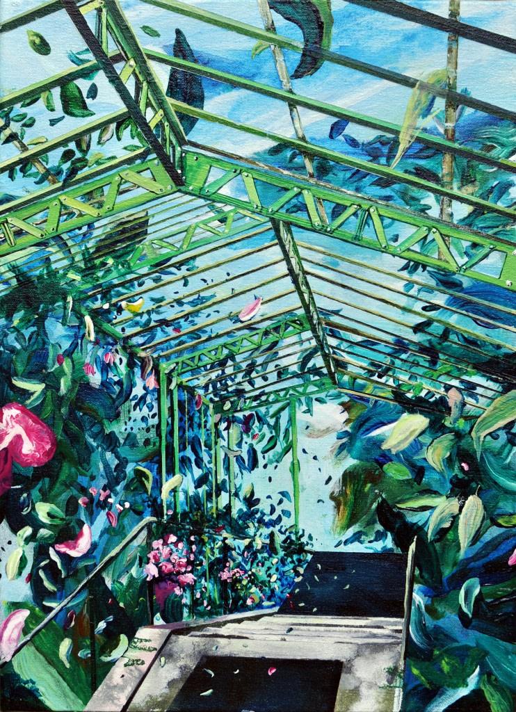 Marion Charlet, Parc royal, 2014, acrylique sur toile, 19 x 27 cm