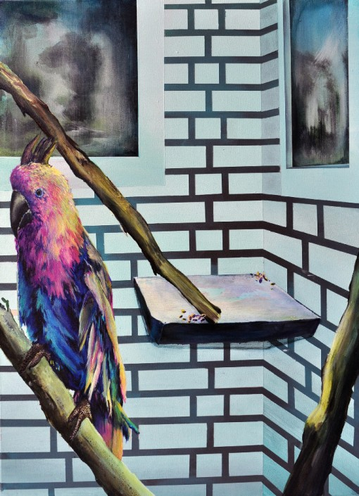 Marion Charlet, Parrot I, 2014, acrylique sur toile, 55 x 75 cm
