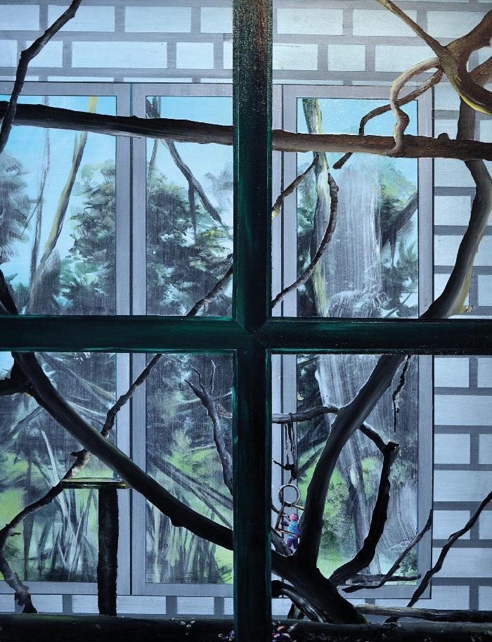 Marion Charlet, Parrot II, 2014, acrylique sur toile, 55 x 75 cm