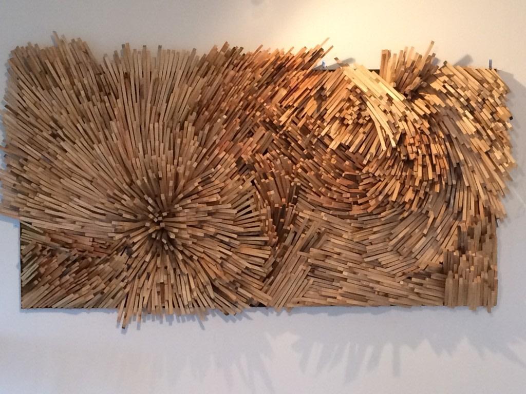 Alan Goulbourne, Skin Study relief n°5, 2012, bois, 240 x 120 cm