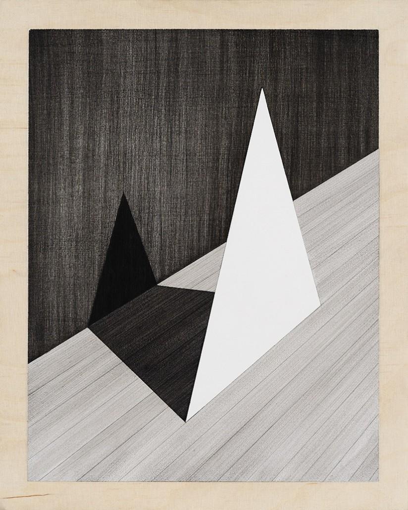 Charles Laib Bitton, Romantic Imagist Composition 3, 2014, fusain sur papier, 28 x 35 cm