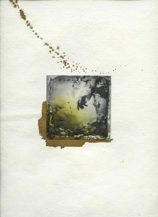 Margherita Chiarva, Untitled Transfert TR 10, polaroid transfert on cotton, gauze fabric, mixed with tempera and ink, 40 x 50cm