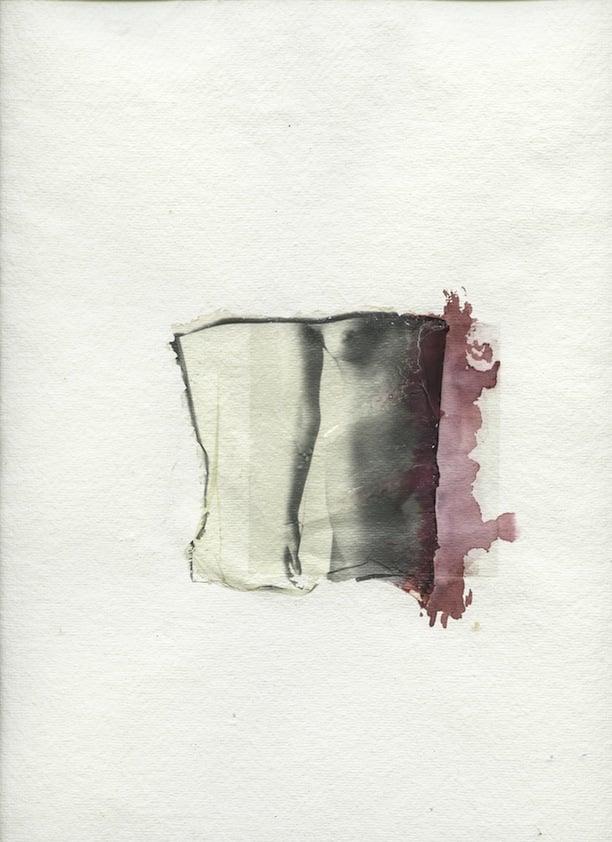 Margherita Chiarva, Untitled, Transfert TR 9, polaroid transfert on cotton, gaze fabric, mixed with tempera and ink, 40 x 50cm