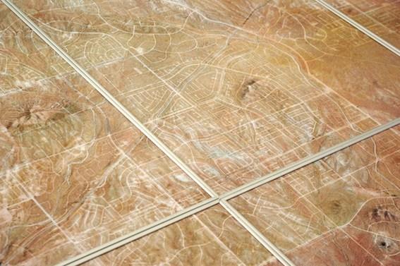 Camille Ayme, California City (détail), 2015, photographie aérienne, impression laser sur papier 160g (8 éléments), 237,6 x 168cm