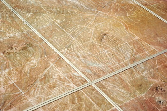Camille Ayme, California City (detail), 2015, aerial photography, laser print on 160g paper, (8 elements) 237,6 x 168cm
