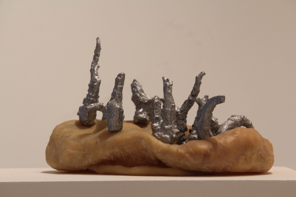 Guillaume Krattinger, Untitled, 2012, cast aluminum and beeswax, 23 x 16 x 12cm