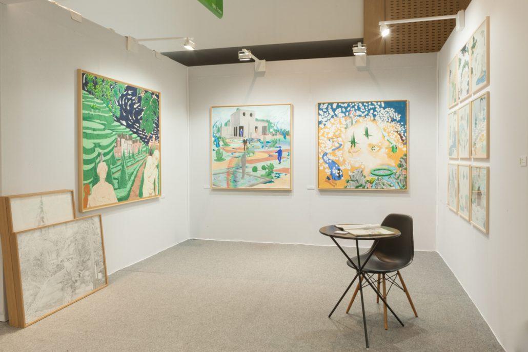 Galerie Virginie Louvet, vue du stand - Drawing Now 2017