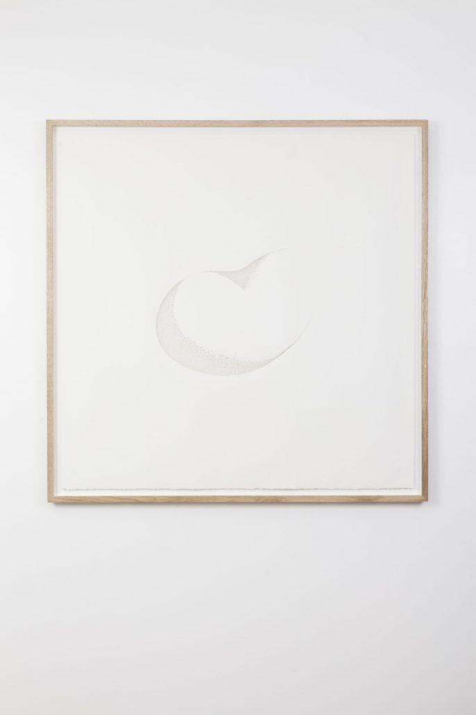 Claire de Santa Coloma, Sans Titre (sculpture), 2017, papier arches 300 g découpé, 122,5 x 122,5 cm encadré