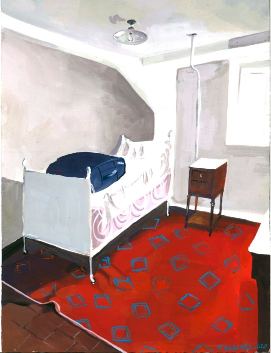 Châtres : chambre tapis rouge, 2020