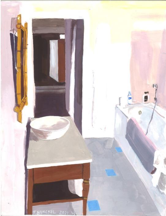 Châtres : salle de bain rose, 2020