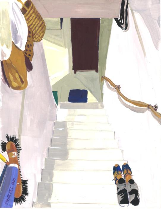 La Madeleine : escalier de la cave, 2020